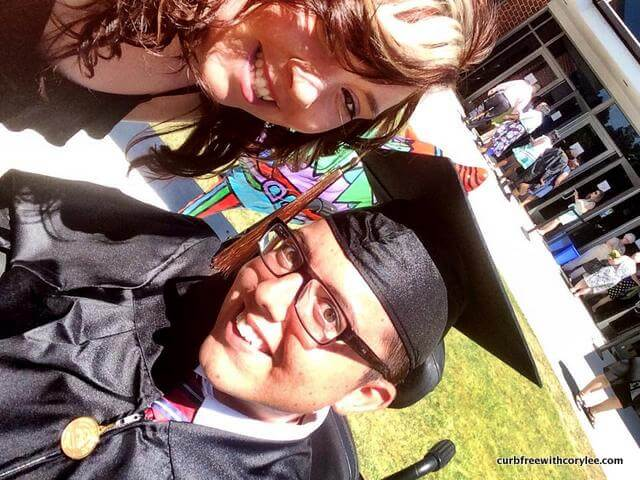 My best friend Kela and I at my college graduation.