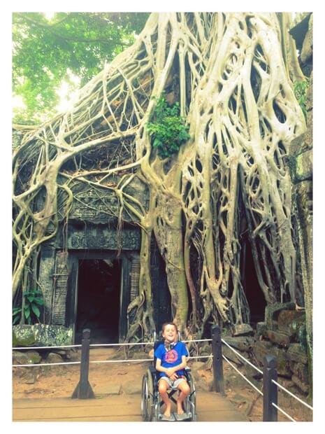Coop at Angkor Wat in Cambodia inspiring travel interview