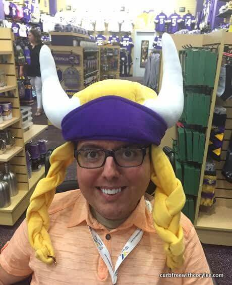 I even became a Viking in the Minnesota Vikings store!