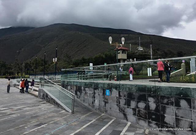 The ramped entrance at Mitad del Mundo