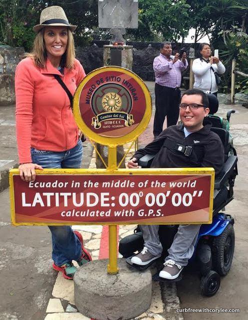 visiting the equator in ecuador wheelchair accessible