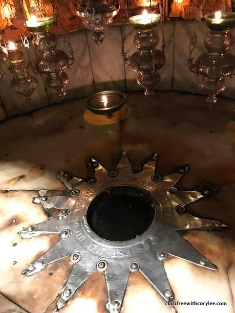 My stepdad took this photo of the exact spot where Jesus was born.