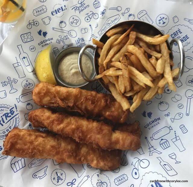 Fish and chips at Cafe du Monde
