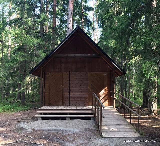 Accessible restrooms at Viru Bog
