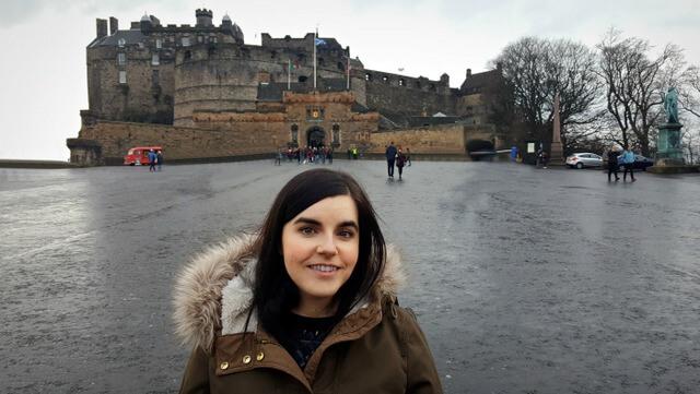 Emma at Edinburgh Castle